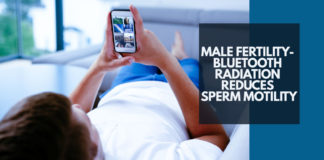 Male Fertility- Bluetooth Radiation Reduces Sperm Motility