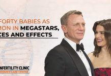 Late forty babies as common in megastars, choices and effects
