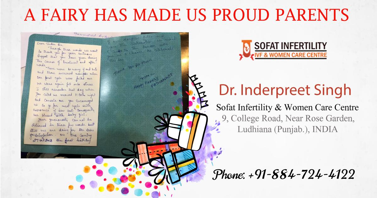 Dr. Inderpreet Pal Singh Countless IVF Success Stories
