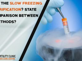 What is the slow freezing and vitrification - State the comparison between both methods