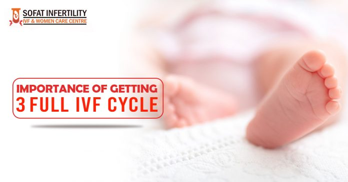 Importance of getting 3 full IVF cycle