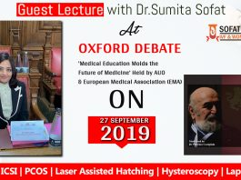 Lecture with Dr.Sumita Sofat Oxford Debate 'Medical Education Molds the Future of Medicine'