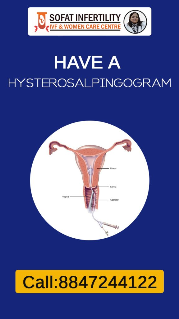 Hysterosalpingogram is a X-ray of your fallopian tube which helps to know the exact cause and problem.