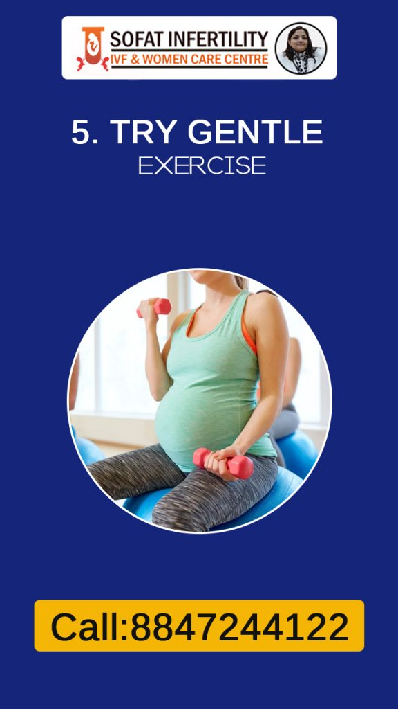It is good to do gentle exercise during pregnancy to relieve stress.