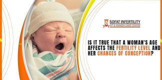 Is it true that a woman's age affects the fertility level and her chances of conception