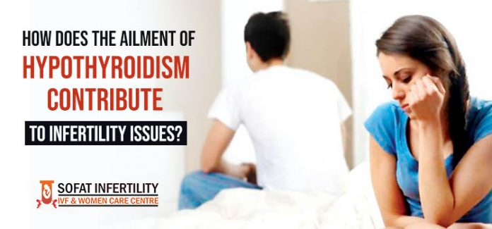 How does the ailment of hypothyroidism contribute to infertility issues?
