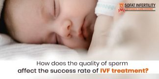 How does the quality of sperm affect the success rate of IVF treatment?